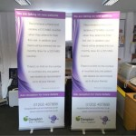 Roll up banner example
